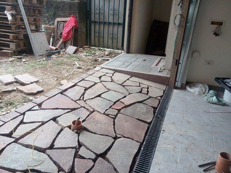 Lavoro pietra naturale porfido a rovereto artigiano for Casa tua arredamenti rovereto
